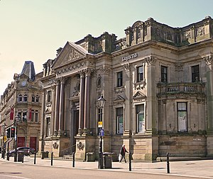 Lloyds Bank in Halifax, West Yorkshire. Taken ...