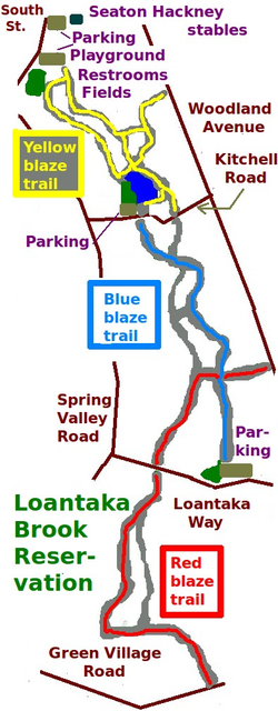 Loantaka Brook Trails Morris County NJ map trails.png