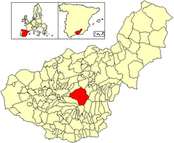 Location of Güéjar Sierra
