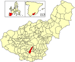 Location of Lanjarón