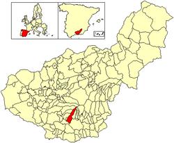 Situación de Lanjarón