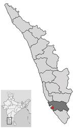 Location of Kollam Kerala.png