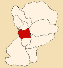Location of Mato in the Huaylas province