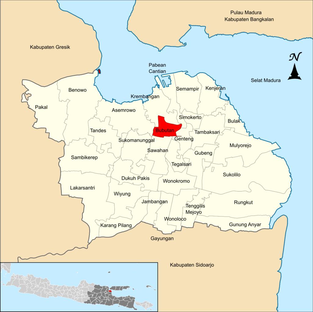 File Locator Kecamatan Bubutan Di Kota Surabaya Png Wikimedia Commons