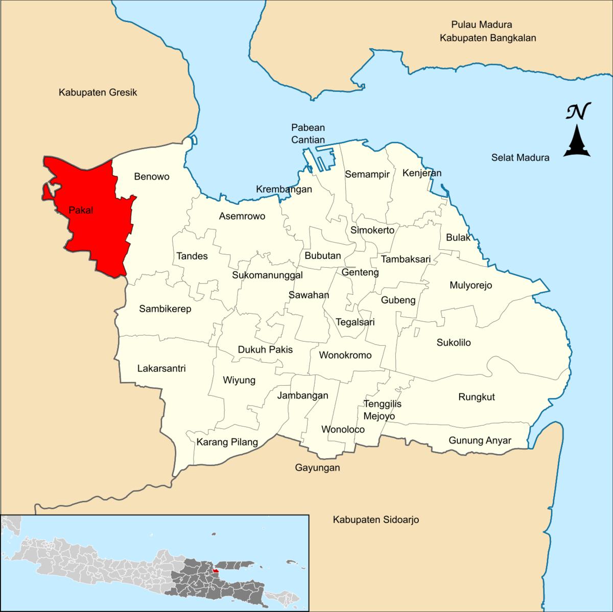 Kabupaten Kel Babat Jerawat Kec Pakal Jawa Timur