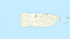 Florida, Puerto Rico - Image: Locator map Puerto Rico Florida