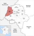 Locator map of Kanton Langeais 2018.png