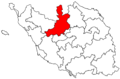 Locator map of the canton d'Aizenay (in Vendée).png