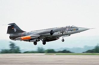 Taktisches Luftwaffengeschwader 31 - Image: Lockheed (Messerschmitt) F 104G Starfighter, Germany Air Force AN1712021
