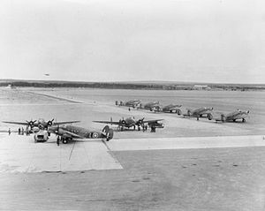 Gander International Airport - Lockheed Hudson Mark IIIs are prepared for their trans-Atlantic ferry flights at Gander in 1942
