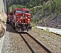 Locomotive on the Kicking Horse route of the Canadian Pacific railway in British Columbia - panoramio.jpg