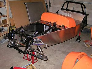 Kit car - Locost frame and body panels.