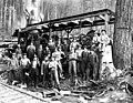 Logging crew and donkey engine, ca 1925 (PICKETT 226).jpg