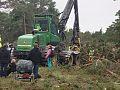 Lokalbefolkningen protesterar mot företaget Nordkalks avverkningar i Ojnareskogen.jpg