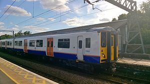 Lea Valley lines - British Rail Class 317 in Overground livery