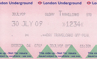 Travelcard - Image: London Undeground Travelcard