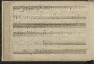 London Sketchbook (Mozart) - Second page