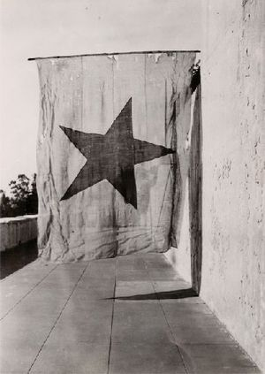 Flag of California - Last known California Lone Star flag, now held at The Gene Autry Western Museum in Los Angeles.