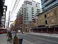 Looking north at 230 King East and the building built within the old National Hotel, 2015 05 05 (17226617648).jpg