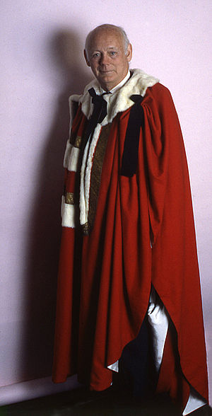 Peerages in the United Kingdom - Edward Douglas-Scott-Montagu, 3rd Baron Montagu of Beaulieu wearing the parliamentary robes of a baron