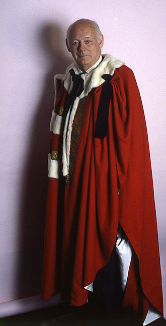 Robes of the British peerage - Edward Douglas-Scott-Montagu, 3rd Baron Montagu of Beaulieu wearing the parliamentary robes of a baron
