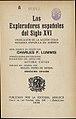 Los exploradores españoles del siglo XVI 1930 Charles F Lummis.jpg