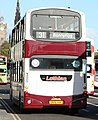 Lothian Buses bus 754 Volvo B7TL Wrightbus Eclipse Gemini SN56 AAK Madder and White livery.jpg