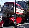 Lothian Buses open top tour bus 9 (ERM242) Routemaster VLT 242 Mac Tours livery, 8 September 2004.jpg