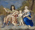 Louis XIV with Queen Marie Thérèse and the Dauphin by an unknown artist.jpg
