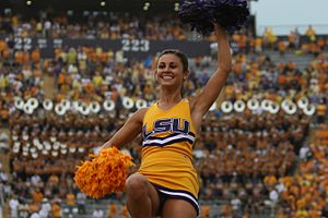 LSU Tigers basketball - LSU cheerleaders
