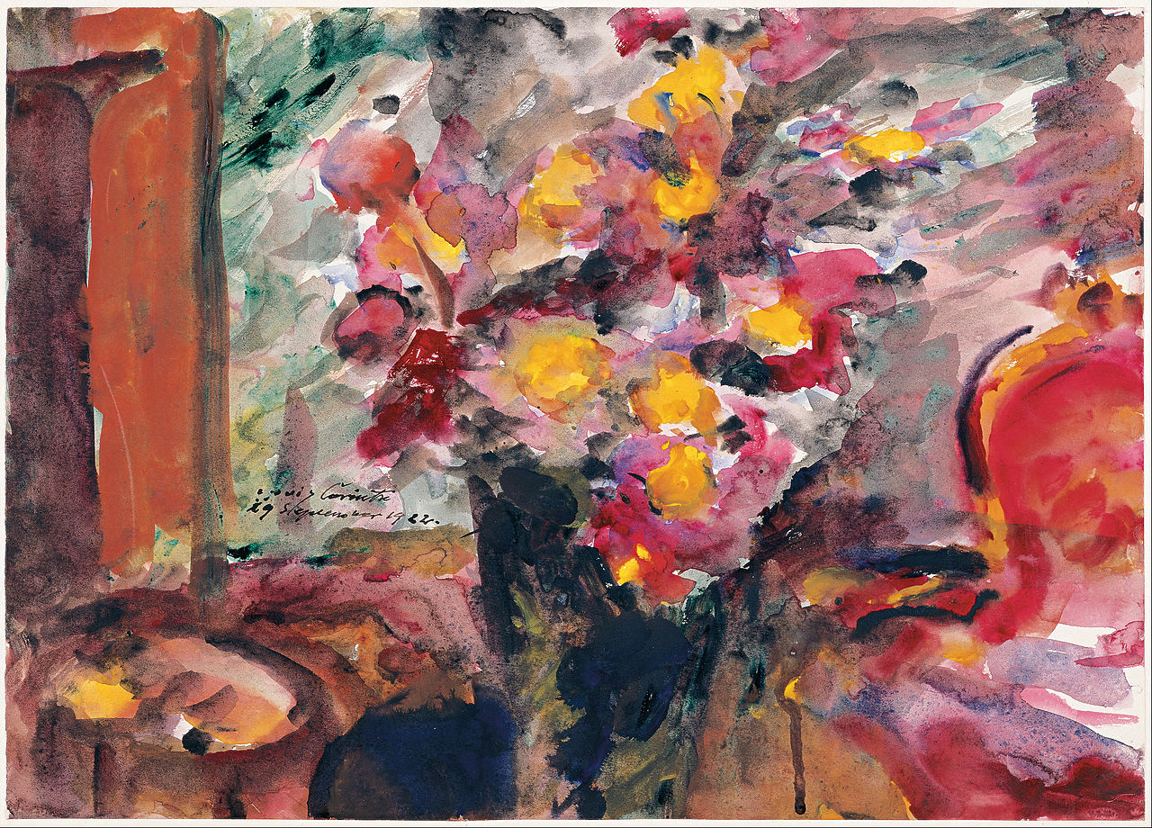 File:Lovis Corinth - Flower Vase on a Table, 1922 - Google ...