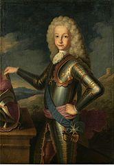 Luis I con armadura a los 10 años