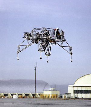 Lunar Landing Research Vehicle - An LLRV at Edwards AFB is tested before acceptance by NASA.