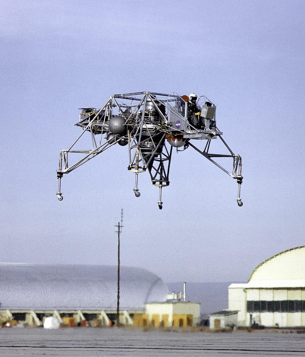 Lunar Landing Research Vehicle in Flight - GPN-2000-000215