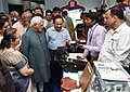 M. Hamid Ansari looking at the 'Exhibition on Science & Technology Innovations', organised by the Parliamentary Standing Committee on Science & Technology, Environment & Forests and Rajya Sabha, in New Delhi (2).jpg