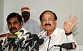M. Venkaiah Naidu addressing a press conference after reviewing the urban development projects being implemented in the state of Tamil Nadu, in Chennai.jpg