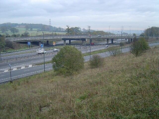 M1 Motorway, Junction 4 - geograph.org.uk - 85978