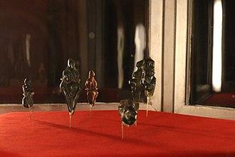 Venus figurines of Balzi Rossi - Some of the Venus figurines of Balzi Rossi, Musée d'Archéologie Nationale (Salle Piette) in Saint-Germain-en-Laye