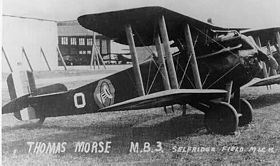 Un Thomas-Morse MB-3 appartenente alla 94th Pursuit Squadron, 1st Pursuit Group, Selfridge Field, Michigan