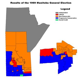 Manitoba general election, 1969 - Image: MB1969