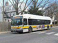 MBTA route 72 bus on Concord Avenue, February 2017.JPG