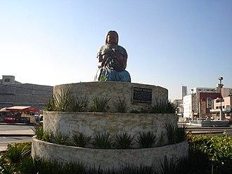 Mazahua people - Monument to the Mazahua. Mexico City.