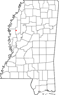Location of Holly Ridge, Mississippi