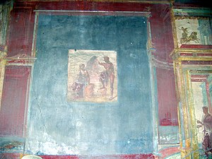 Macellum of Pompeii -  Mural painting in the 4th style