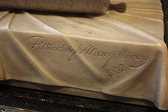 James Pittendrigh Macgillivray - MacGillivray's sculpted signature