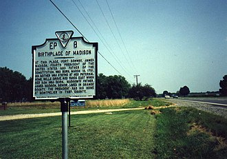 Belle Grove (Port Conway, Virginia) - Image: Madison Birthplace Port Conway VA