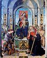 Madonna in trono con il Bambino, Sant'Antonio Abate e l'Arcangelo Michele di Antonio Aleotti.jpg