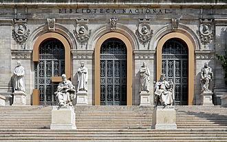 Biblioteca Nacional de España - Image: Madrid Biblioteca Nacional 02