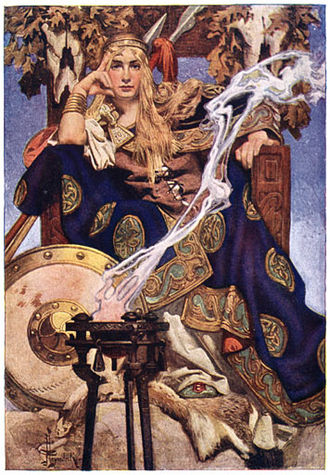 King Arthur (2004 film) - Guinevere's warrior persona is closer to the ancient Queen Medb (romanticised above) of the Irish Táin Bó Cúailnge than the Guinevere of Arthurian legend.  By J.C. Leyendecker, 1916