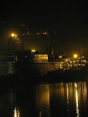 Port of Magdalla - Magdalla Shipyard as seen from ONGC bridge